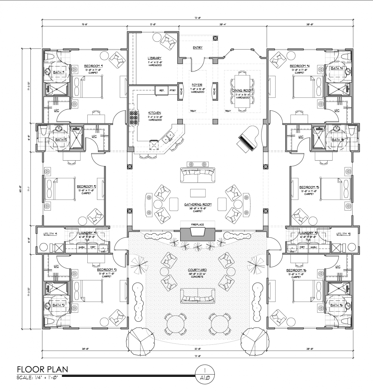 Senior care floor plan care home plans ideas picture Aging in place home plans